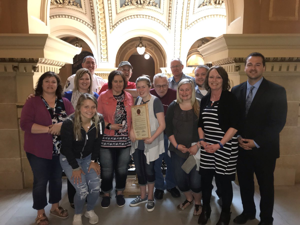 #FBI Milwaukee salutes Wisconsin teenager Jayme Closs today, surrounded by family and friends after being honored as a Hometown Hero before the WI State Assembly.  Jayme was abducted from Barron County for 88 days before escaping her captor and found help. #JaymeClossStrong<br>http://pic.twitter.com/guoNDZrBcr