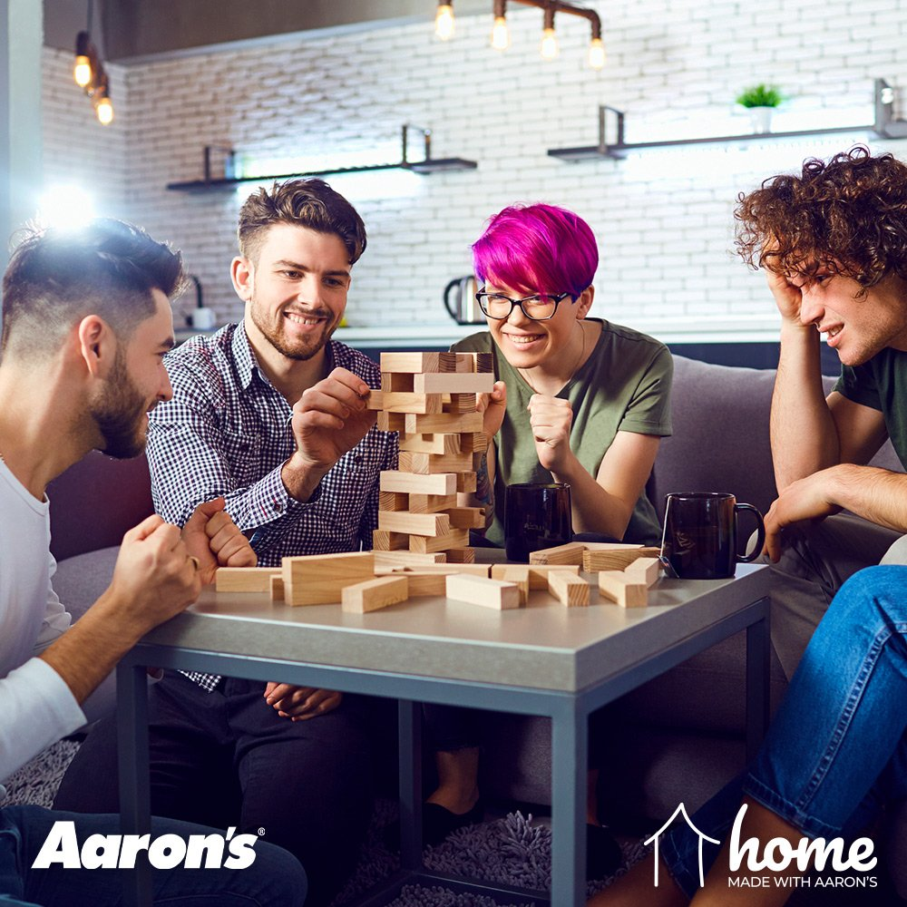 Let the good times roll and host a good old-fashioned game night with friends! Here are some tips to consider when planning your night.   https://www.blog.aarons.com/blog/entertaining-with-ashley-furniture…