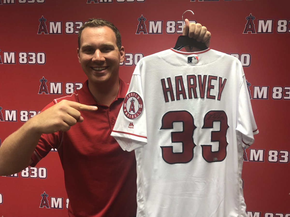 This could be yours (the autographed Matt Harvey jersey, not @TrentRushSports)!   Participate in our discussion and share your listening location by using the hashtag #AngelsRadioSocial for your chance to win. <br>http://pic.twitter.com/Eu3A3WoCNS