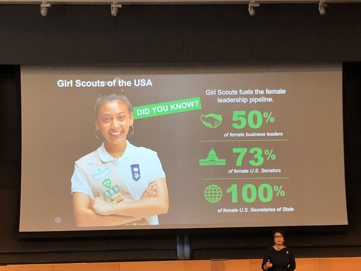 @SylviaAcevedo talk today @realbievent #ceo of @girlscouts with impressive stats on benefits of @girlscouts #leadership #stem @MarciaAMetz