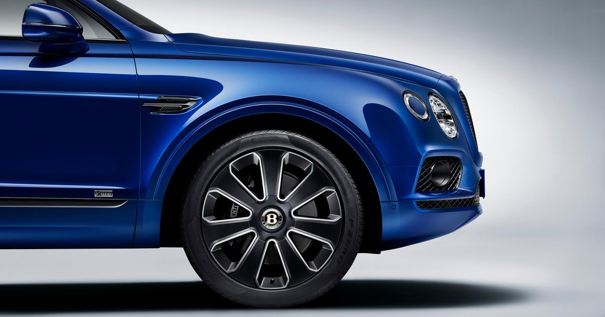 The new #Bentayga #V8 Design Series features the #Mulliner Self Levelling Wheel Badge, keeping the Bentley 'B' upright and visible at all times. Learn more: http://bit.ly/2YAVM4N