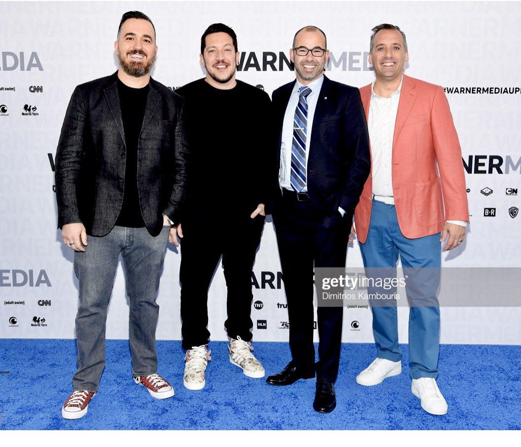 Handsome sons of guns. @TBSNetwork @truTVjokers @truTV @thetenderloins @Turner @WarnerMediaGrp #WarnerMediaUpfront <br>http://pic.twitter.com/KQwxzvAAVF
