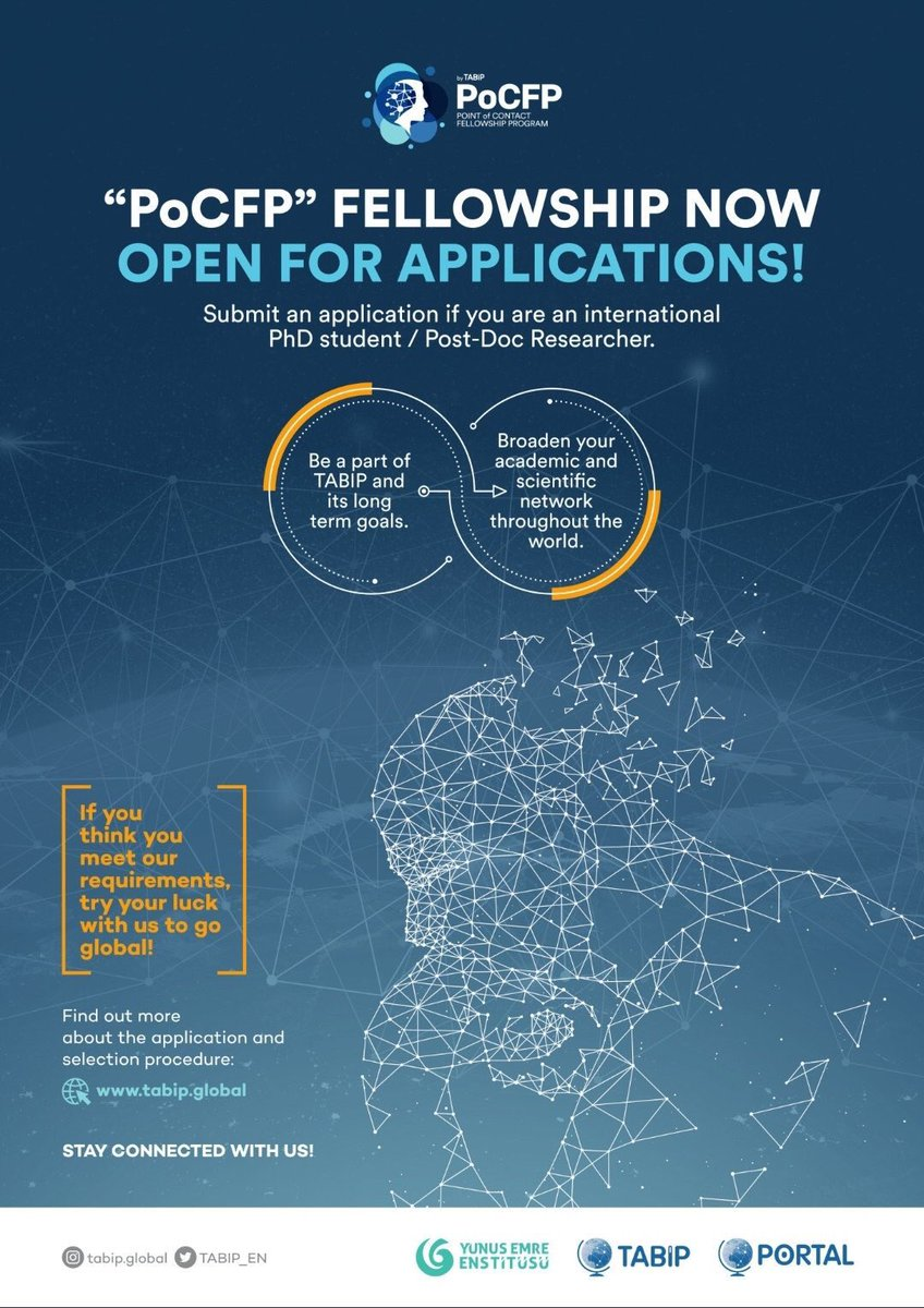 """TABIP is helping international PhD students and Post Doc researchers who live in a country other than Turkey.  If you are interested, apply for the """"Point of Contact Fellowship Program"""" to go global. http://tabip.global/ecosystem/view… #GoGlobal #ScienceDiplomacy #StayEmpoweredWithTABIP pic.twitter.com/jI0mOj76i3"""