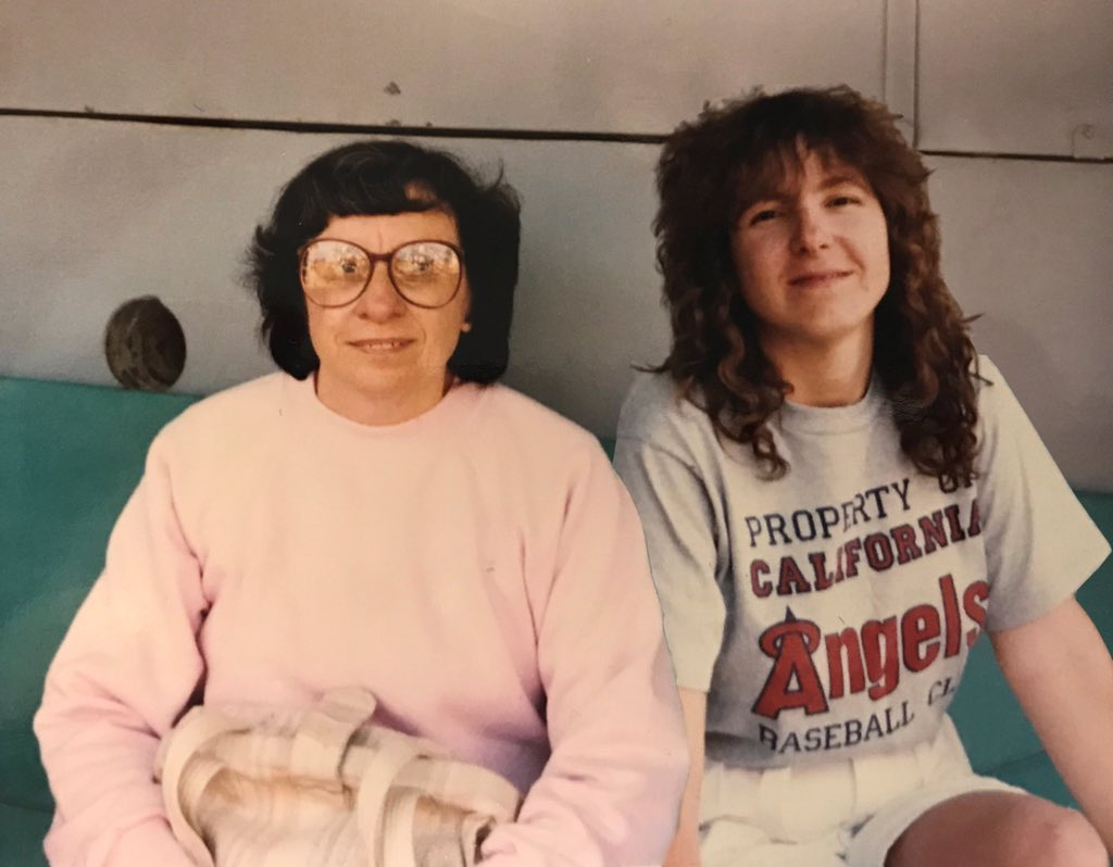 @TrentRushSports My mom and I at Angel open house back in the 80's. #angelsradiosocial <br>http://pic.twitter.com/fhm65odPet