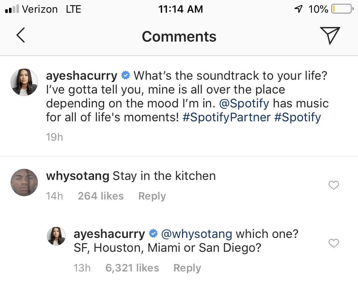 Steph Curry's Wife, Ayesha, Has Epic Response To Instagram Troll