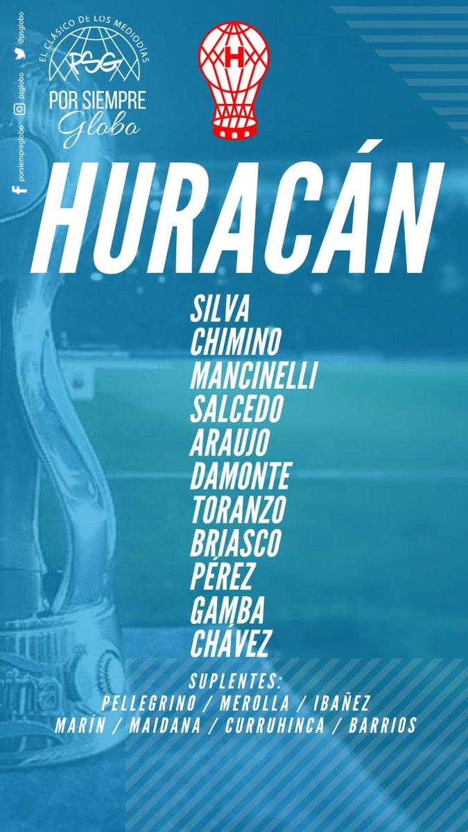 Así formará #Huracán! Néstor Apuzzo pone lo mejor para avanzar en la @Copa_Argentina. Además, otra vez hay mucha presencia de Juveniles en el banco de suplentes. ¡Vamos, Globo! 🎈