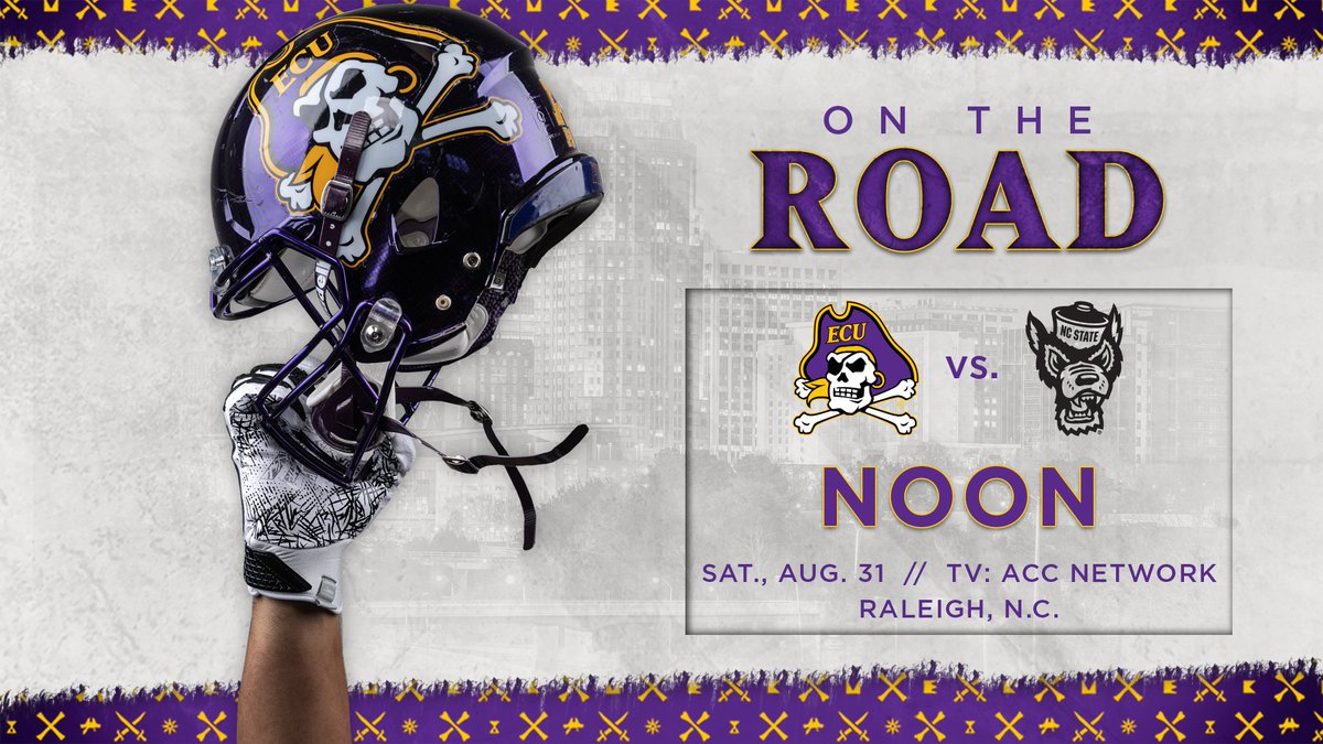 Mark your .  @ECUPiratesFB will open the season in Raleigh on Aug. 31 at Noon on @accnetwork. <br>http://pic.twitter.com/N6LvgHVRQY