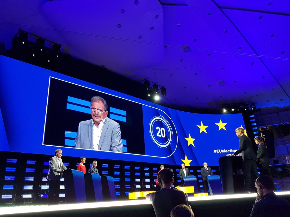 """@AvecNico opens debate """"I was born in Asturias, son of a miner who had to leave Spain because of Franco. We were welcomed thanks to solidarity so today I fight for solidarity in Europe."""" #AvecNico #TellEurope"""