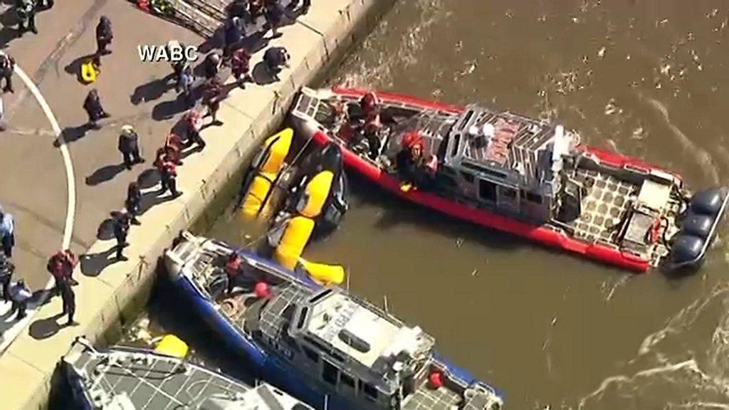 Cae helicóptero al río Hudson – Telemundo New York