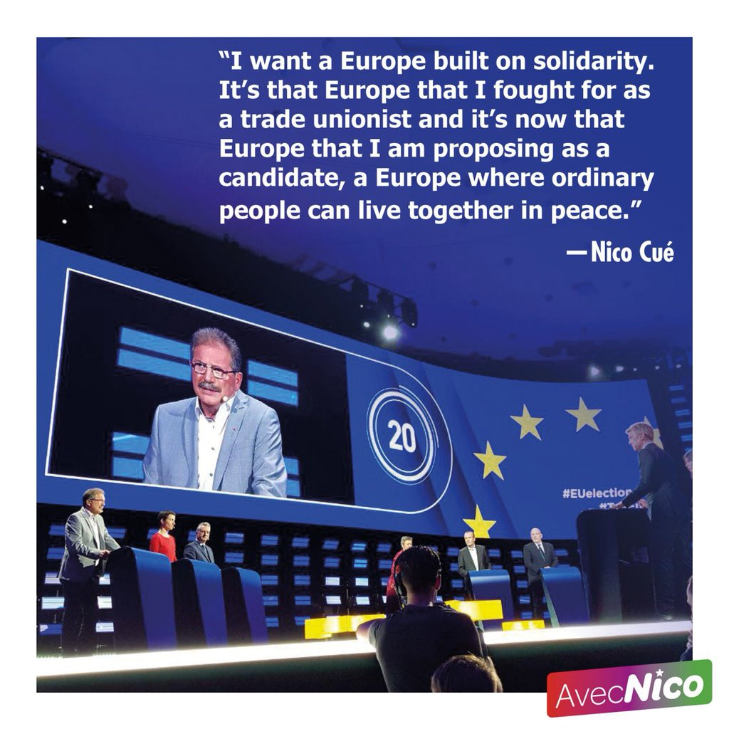 Our candidate @AvecNico standing up for a Europe built on solidarity #TellEurope #AvecNico
