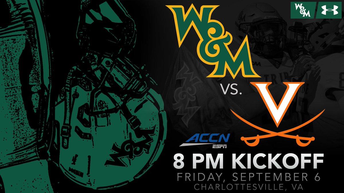 UVA Kickoff Time &amp; TV    8 p.m.  Friday, Sept. 6  ACC Network   http:// bit.ly/2W5JkMz  &nbsp;    #GoTribe<br>http://pic.twitter.com/W85ve23Emv