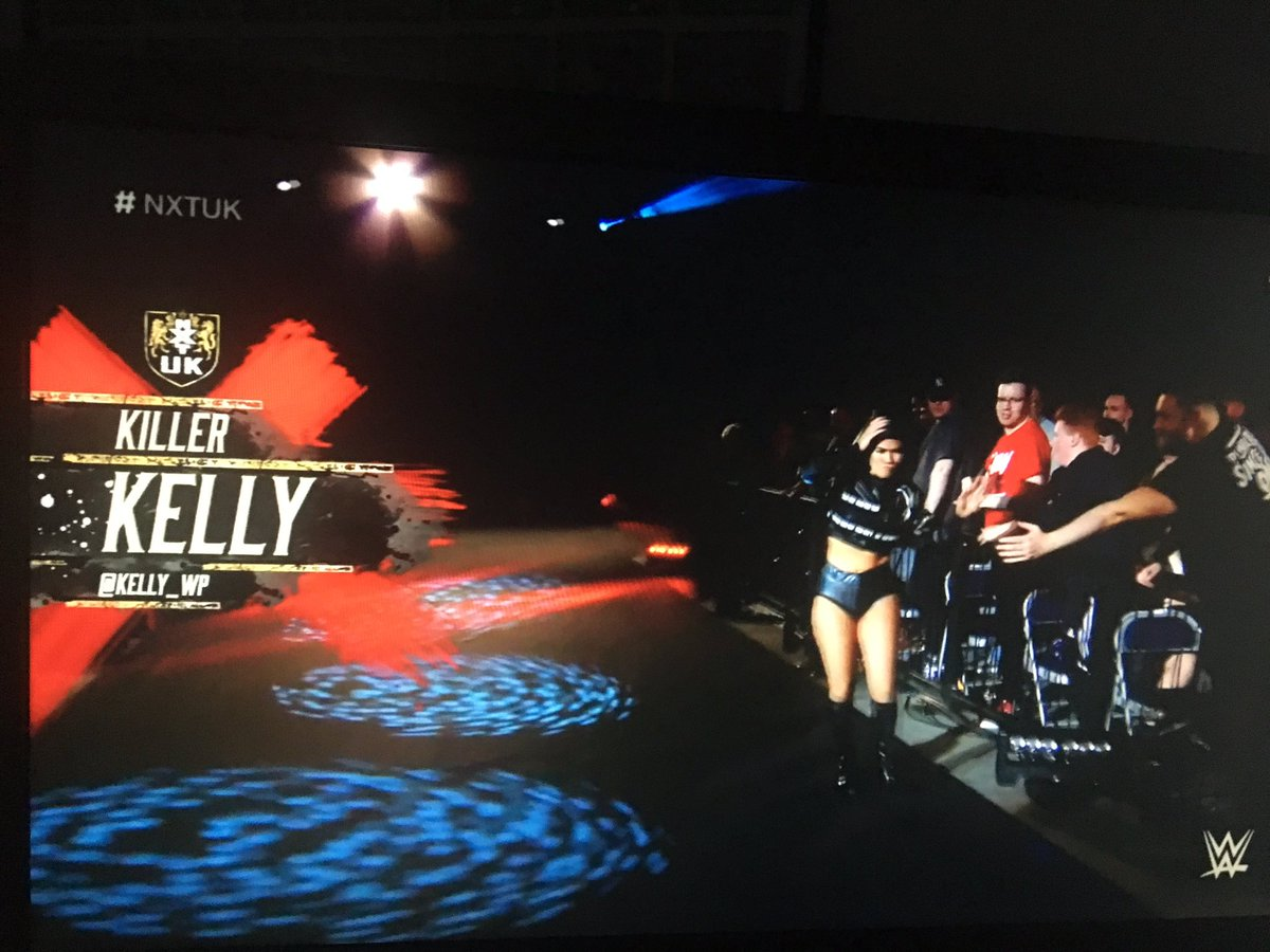 My @NXTUK watch just got 1000x deadlier. @Kelly_WP is scary good