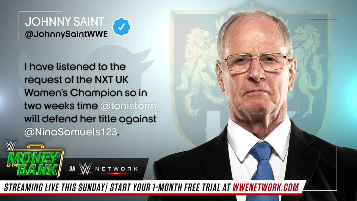 IT'S OFFICIAL: @tonistorm_ will defend her #NXTUK #WomensTitle against @NinaSamuels123 in TWO WEEKS!