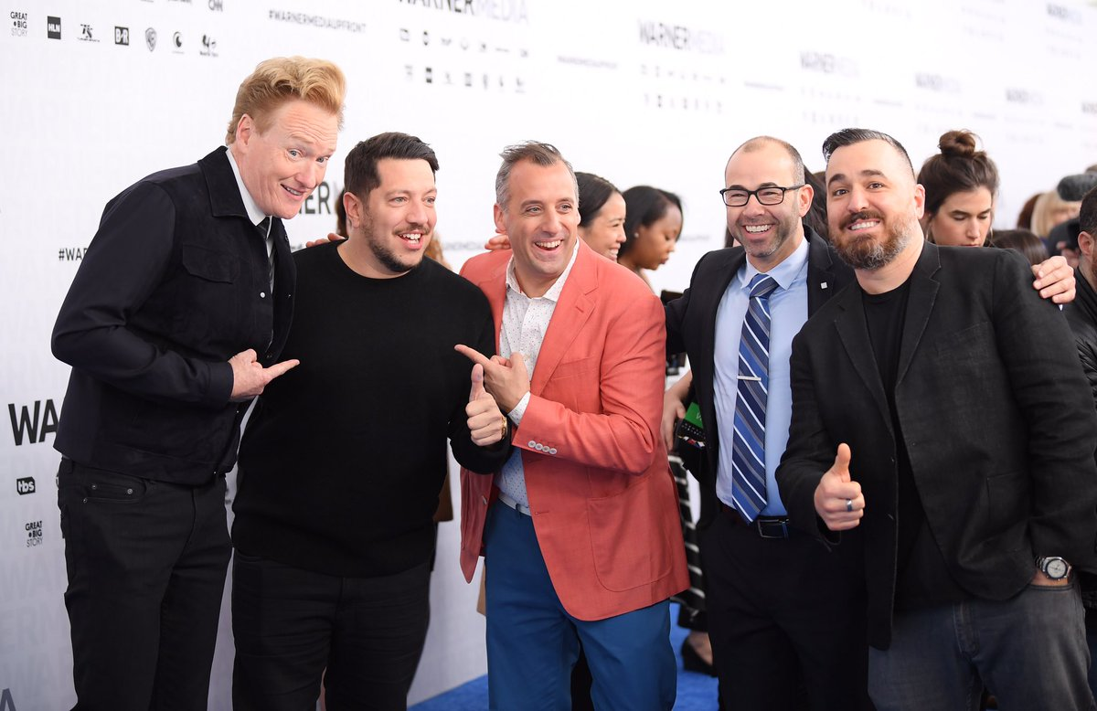 Great times with the #ImpracticalJokers at the #WarnerMediaUpfront, hobnobbing with other @WarnerMediaGrp stars like @ConanOBrien and #TacomaFD's @SteveLemme! #Upfronts2019<br>http://pic.twitter.com/Ef9XKN4v7V