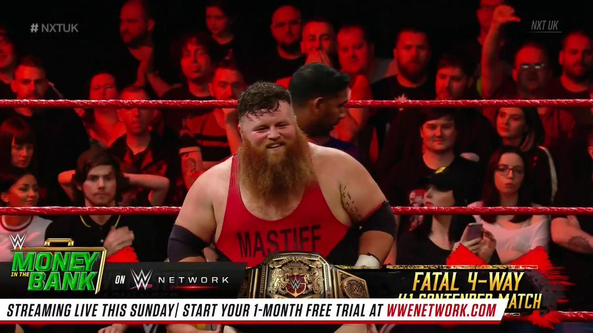 WHAT A VICTORY! @DaveMastiff defeats @WolfgangYoung to advance to the No. 1 Contender #Fatal4Way Match! #NXTUK