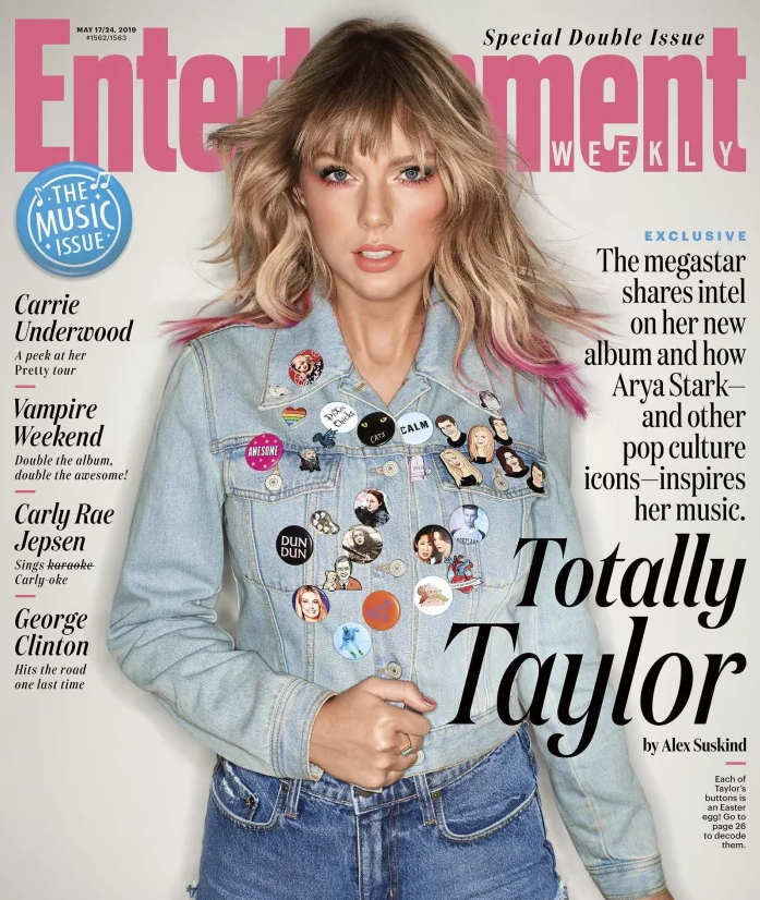 Want to totally look like @taylorswift13 on the cover of @EW AND show your pride this summer? We arent 💯% sure but our pride pin looks pretty close to the one shes wearing! Either way our proceeds help support #LGBTQ rights! Get yours today at tietheknot.org/ttb