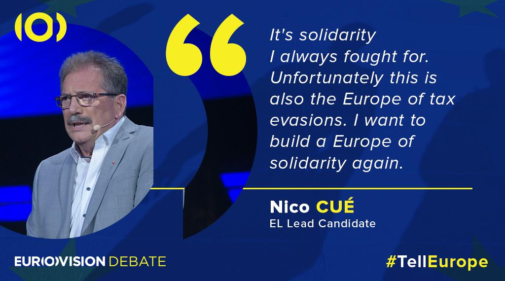 #European Presidency candidate @AvecNico says that #solidarity is the reason why he wants to work with Europe. Follow the debate live #TellEurope