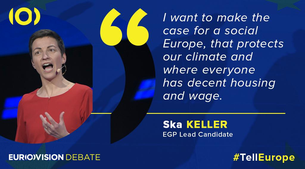 The lead candidate from @GreensEP @SkaKeller would like to ensure that #Europe protects the #climate as well as its citizens. #TellEurope