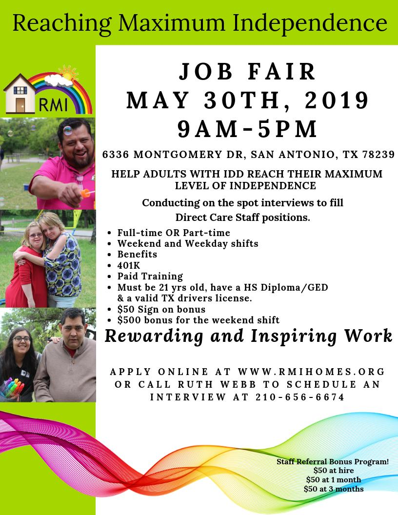 Reaching Maximum Ind On Twitter Are You Interested In A Rewarding Job Or Career Working With Adults With Intellectual And Developmental Disabilities Rmi Has Part Time And Full Time Job Openings For Qualified Candidates