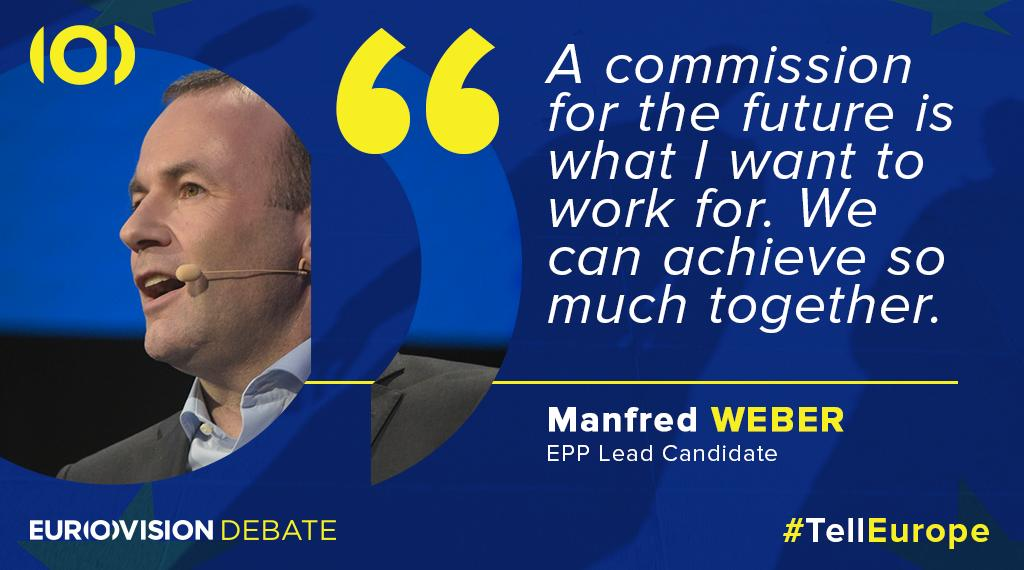 Candidate for the @EU_Commission presidency @ManfredWeber believes in a united #Europe. #TellEurope