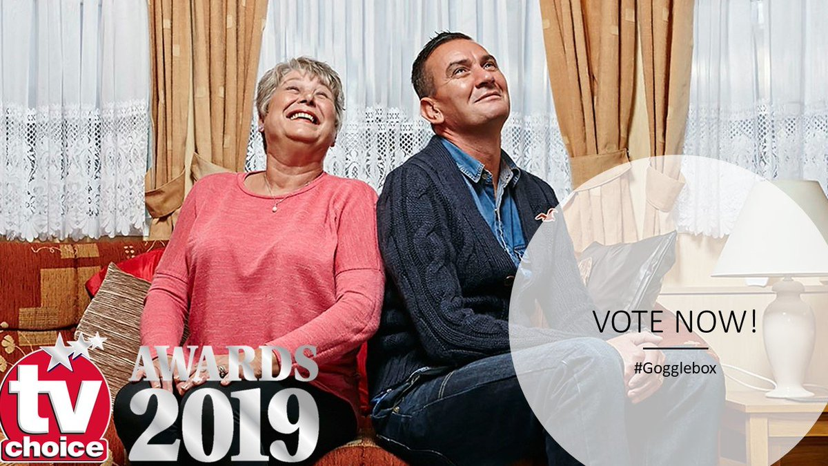 #Gogglebox is longlisted for BEST ENTERTAINMENT SHOW at the 2019 #TVChoiceAwards!   Please VOTE HERE  https:// awards.tvchoicemagazine.co.uk/vote-here  &nbsp;  <br>http://pic.twitter.com/q5g8GA7E4s