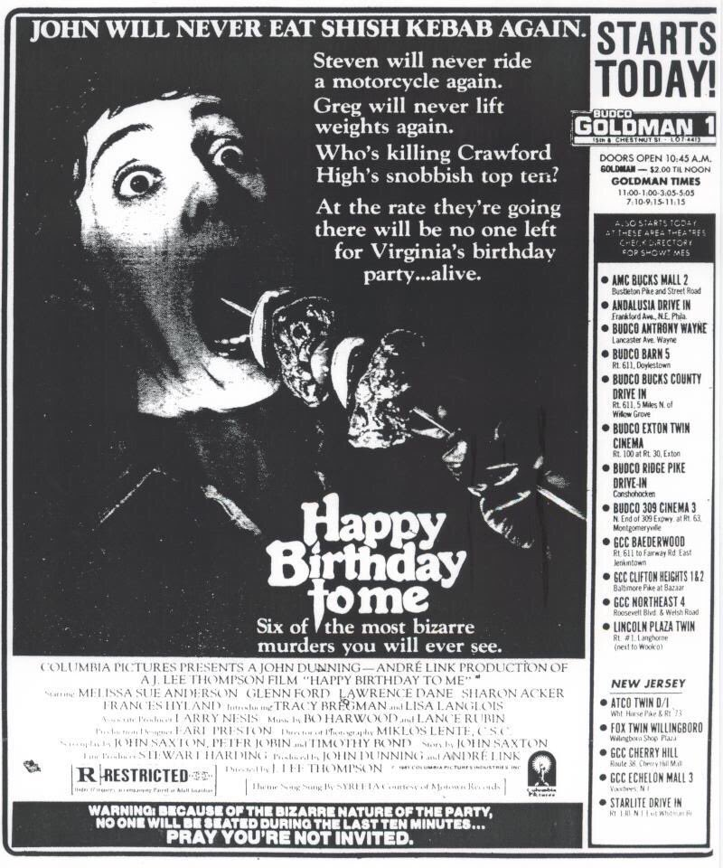 Starts Today Vintage Movie Newspaper Ads On Twitter One Of The First Horror Movie Ads I Ever Saw In The Newspaper