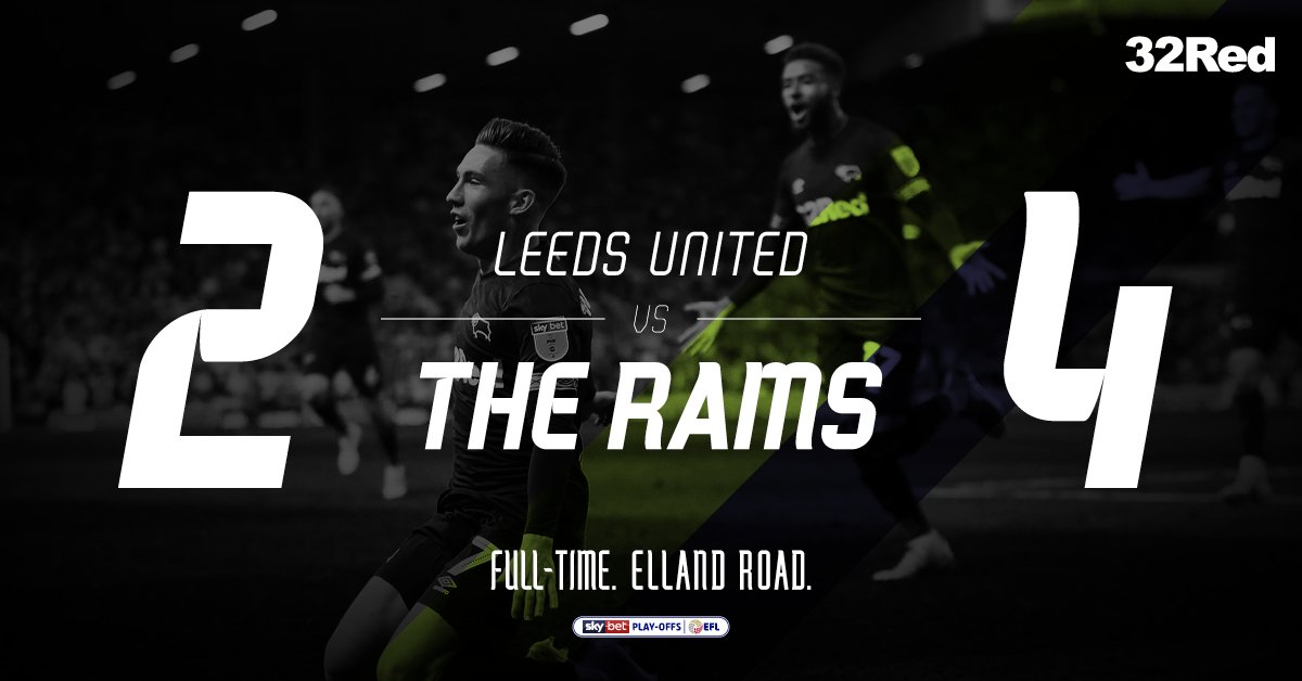 ITS ALL OVER! DERBY COUNTY ARE THROUGH TO THE CHAMPIONSHIP PLAY-OFF FINAL! 😍 #LUFCvDCFC