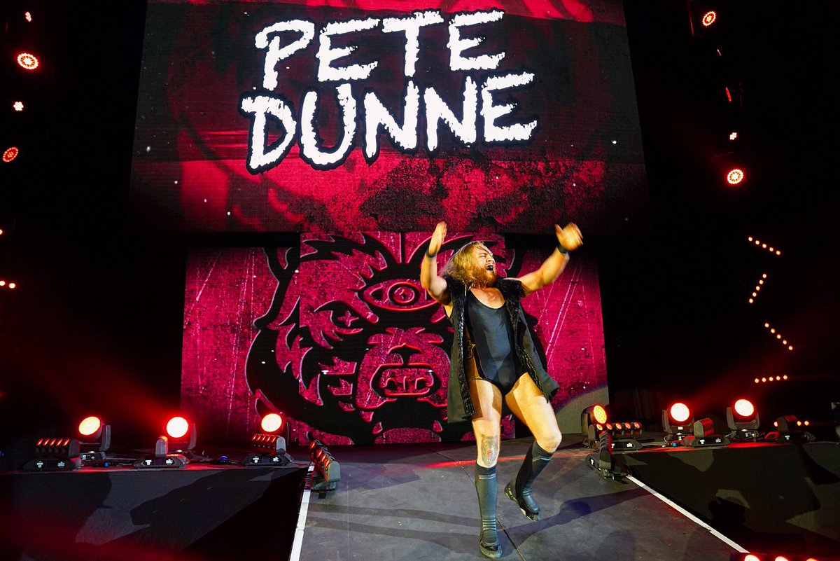 He's home! #NXTUK Superstar @PeteDunneYxB is ready for action in his hometown! #WWEBirmingham!