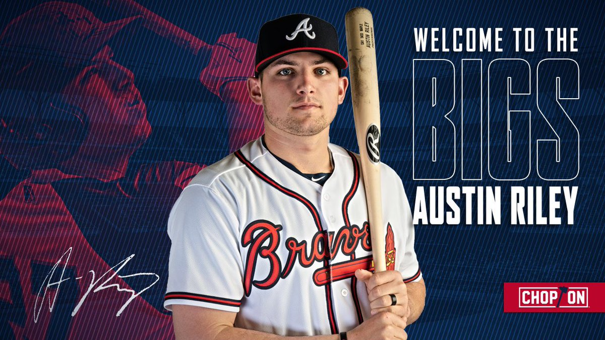 Welcome to The Bigs, @austinriley1308!   #ChopOn