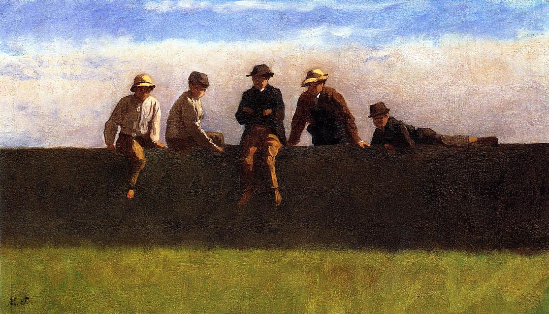 Five Boys on a Wall, 1871 #americanart #johnson <br>http://pic.twitter.com/BxGMCLcYHq