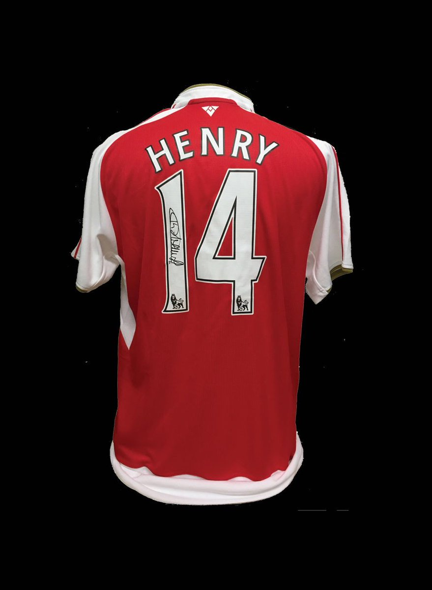 2ca97084675 Get an outstanding 10% off signed personalised Thierry Henry Arsenal  shirts