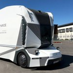 Image for the Tweet beginning: Driverless electric truck starts deliveries
