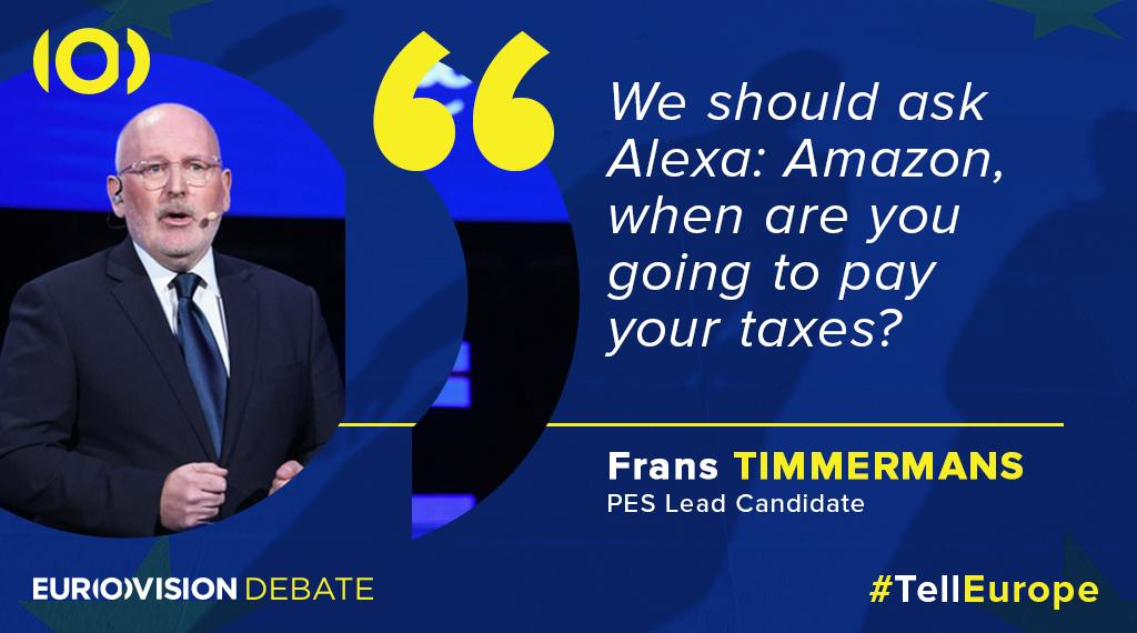 Lead candidate @TimmermansEU suggests an interesting questions for #Alexa. #TellEurope