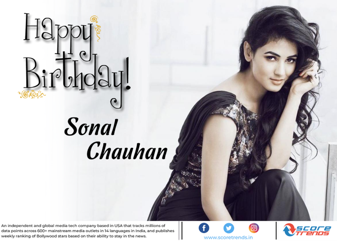 Score Trends wishes Sonal Chauhan a Happy Birthday!!