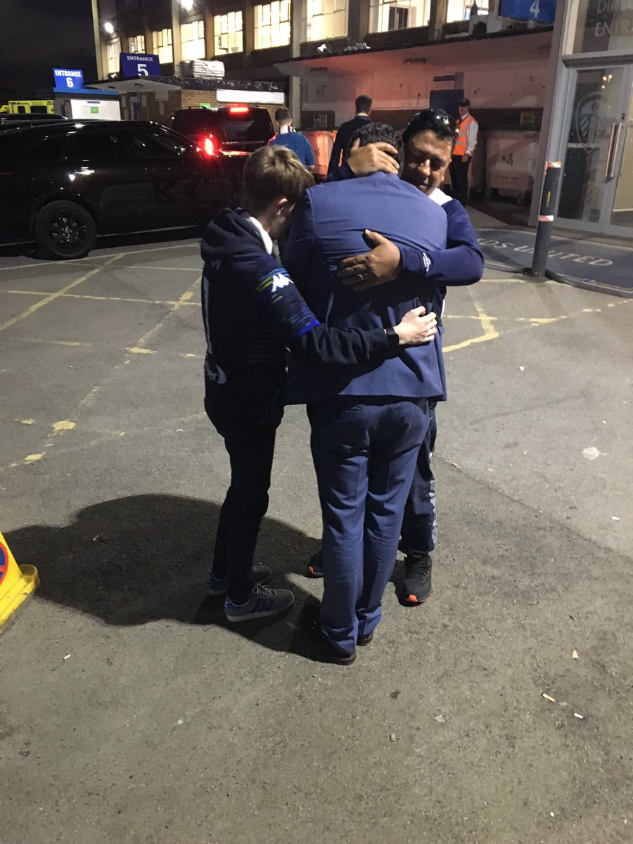 Victor Orta was inconsolable after tonight's game. Him and my 15 year old Son stood crying together. @LUFC @MCBlocksGaming @TSSLUFC