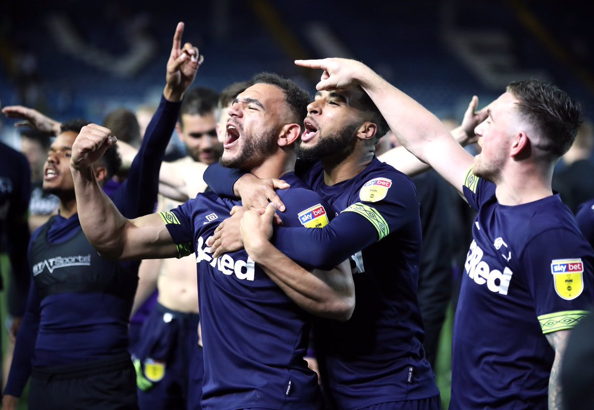 Love this group of players! Unbelievable performance! I experienced every emotion as a fan in the stands tonight! No voice left and my legs are battered & bruised from celebrating the goals! One more big push 👊🏽❤️🐏 #DCFC