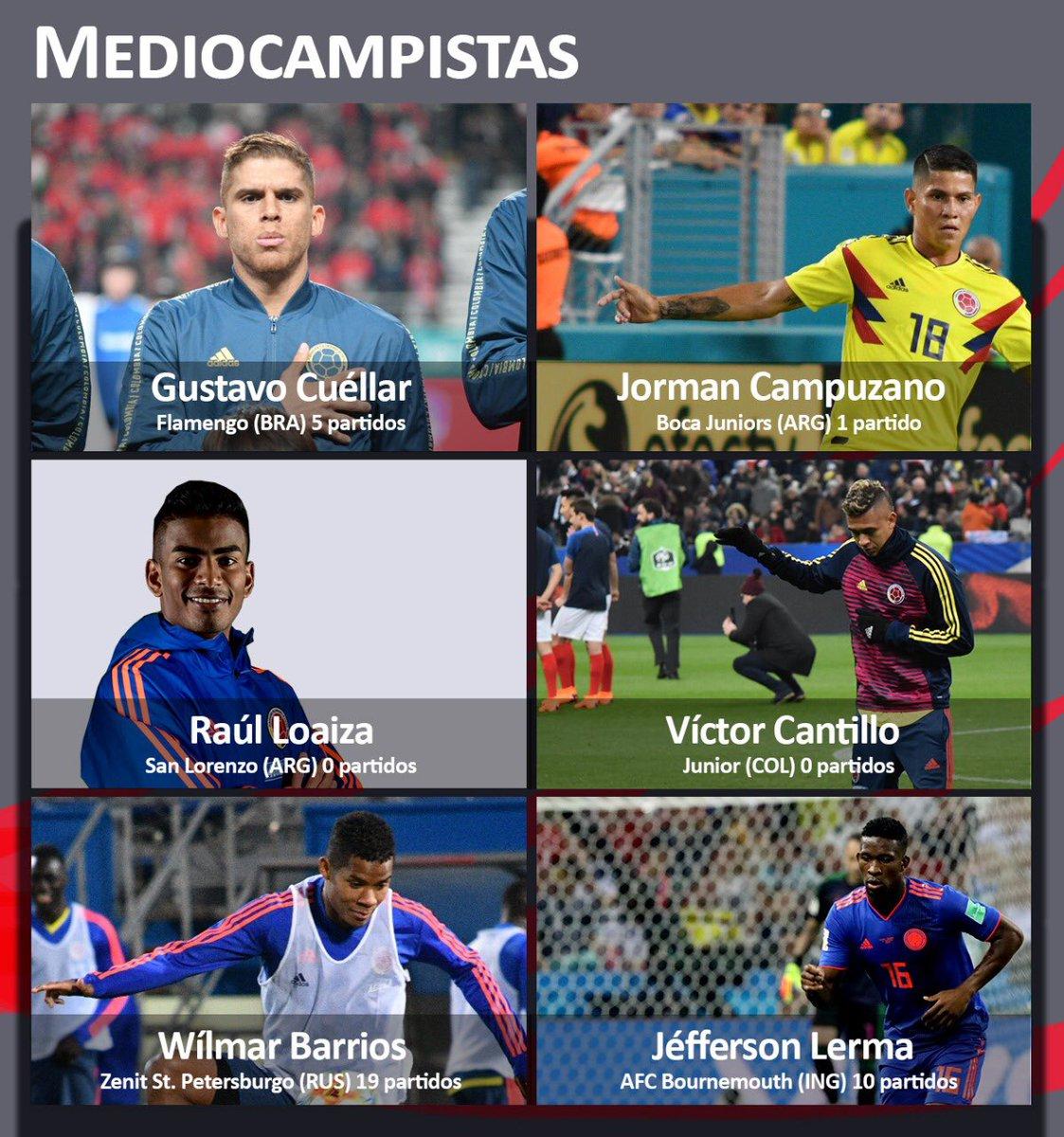Estos son los mediocampistas de la Selección Colombia en la lista provisional de la @CopaAmerica.   #ListaDe40