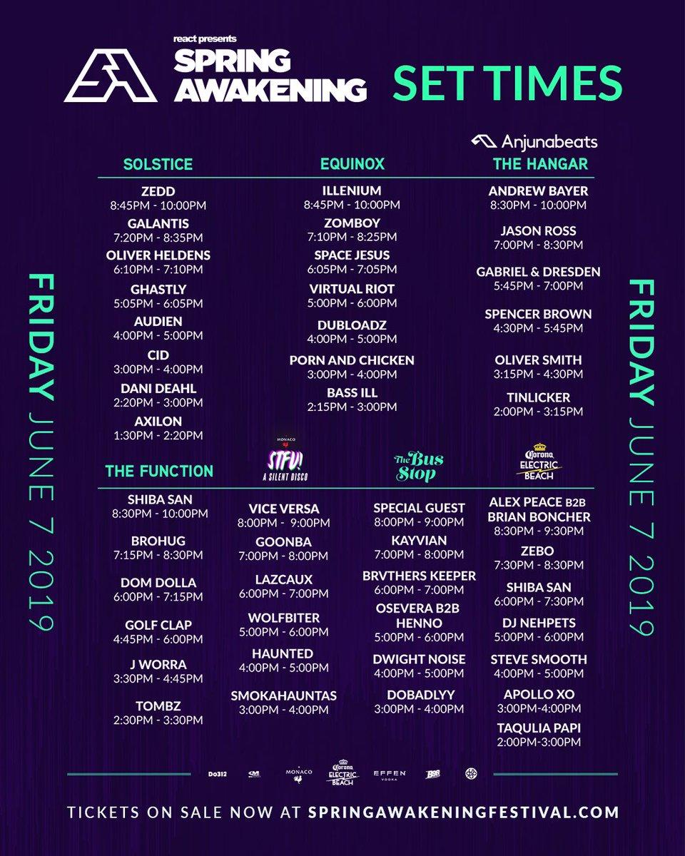 Spring Awakening 2019 | Lineup | Tickets | Dates