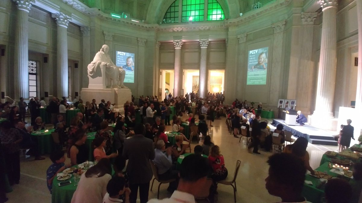 We're at @TheFranklin for the #PCCYparty! An enchanting evening with old friends and many new ones!