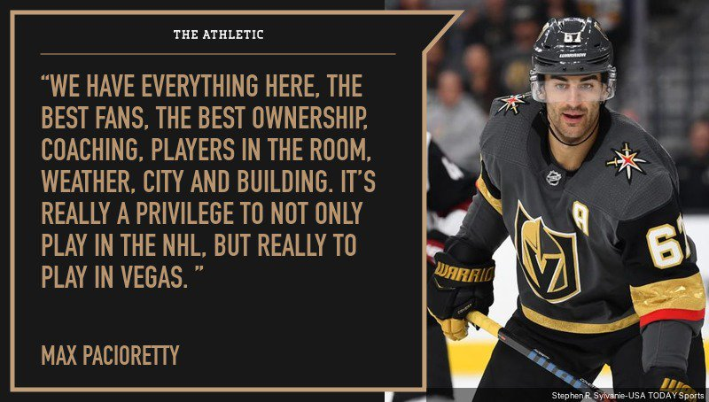 Jesse Granger On Twitter Max Pacioretty On Hockey In Vegas Who