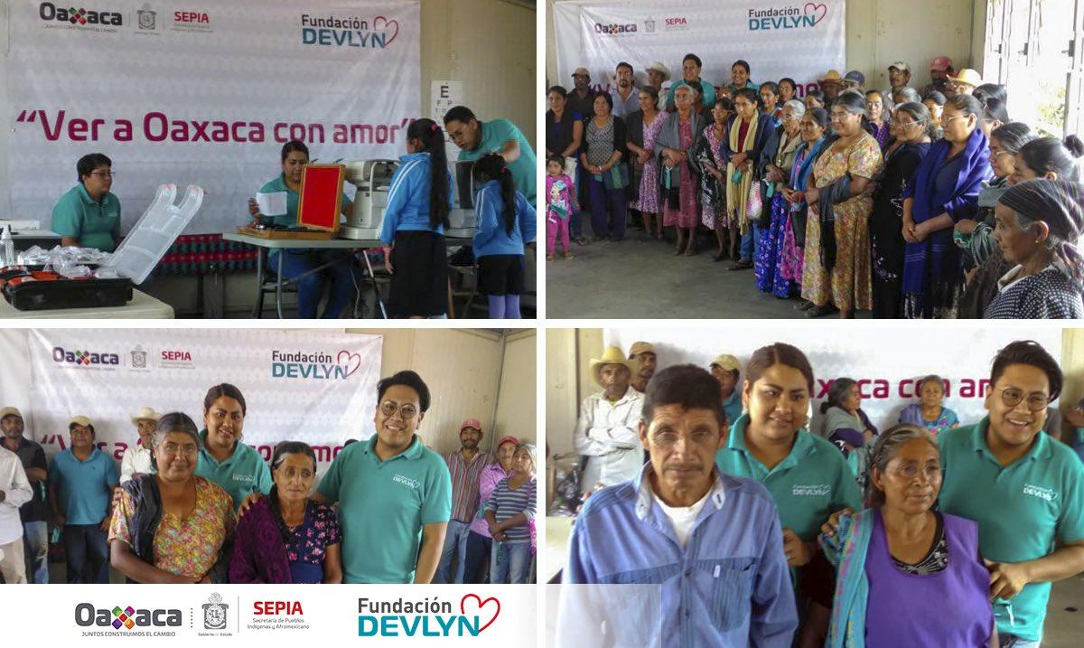 En un esfuerzo en conjunto de la SEPIA y @Opticas_Devlyn continúa la ruta #VerAOaxacaConAmor en el municipio de San Carlos Yautepec, se atiende de manera gratuita a pobladores de las localidades de Sta. María Candelaria, San Miguel Suchiltepec y Sta. Lucía Mecaltepec.  #Oaxaca