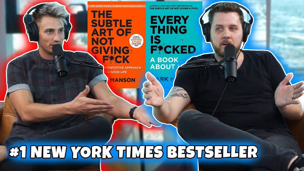 "Sat down with ""The Subtle Art of Not Giving a Fuck"" author Mark Manson to talk about his NEW BOOK!! RT for a SHOUTOUT!! youtu.be/G_rEei6jb7E"