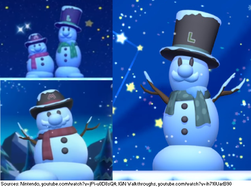 The snowmen seen in the Snow theme of the NSMBU style of
