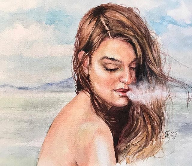 #womenartists  Reposted from @galinarichardson -  #newworkswednesday #watercolor #watercolorpainting #painting #drawing #portrait #watercolour #aquarelle #акварельнаятехника #galinarichardson #venturaartist http://bit.ly/2WFLZcZ pic.twitter.com/sgHXegWrjb