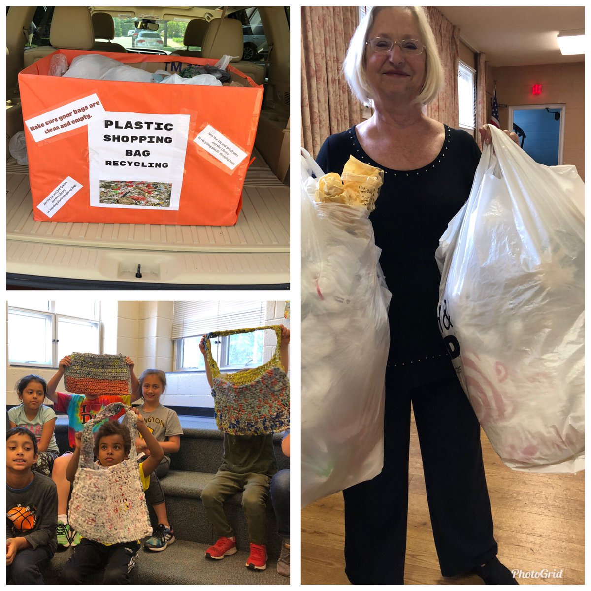 Women's Club of Arlington &amp; Barcroft Library partnered to teach recycling of plastic shopping bags. <a target='_blank' href='http://twitter.com/BarcroftEagles'>@BarcroftEagles</a> collected used bags for the Club who make carryalls &amp; sleeping mats for ASPAN. <a target='_blank' href='http://search.twitter.com/search?q=APSGetInvolved'><a target='_blank' href='https://twitter.com/hashtag/APSGetInvolved?src=hash'>#APSGetInvolved</a></a> <a target='_blank' href='http://twitter.com/APSVirginia'>@APSVirginia</a>  <a target='_blank' href='http://twitter.com/APSLibrarians'>@APSLibrarians</a> <a target='_blank' href='http://twitter.com/GabyRivasAPS'>@GabyRivasAPS</a> <a target='_blank' href='https://t.co/fozFLwr8Jk'>https://t.co/fozFLwr8Jk</a>