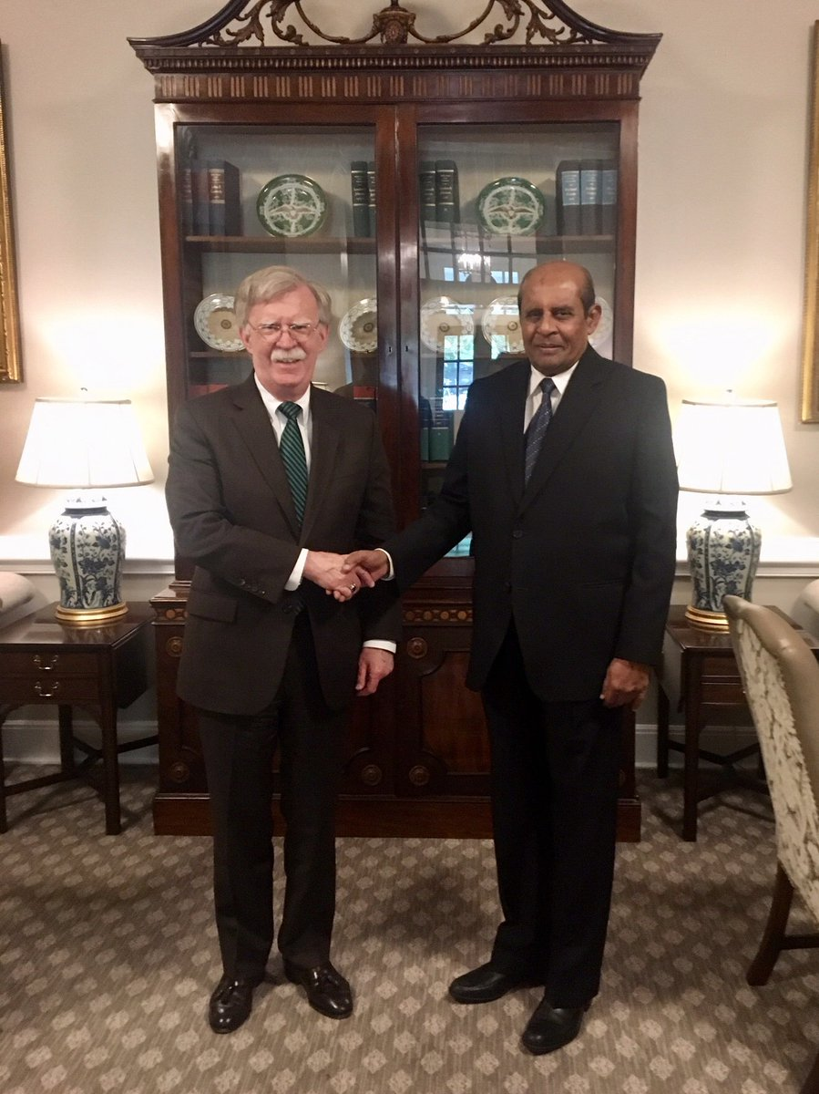 Met with Sri Lankan FM Marapana to reiterate U.S. resolve to strengthen counterterrorism cooperation and bring to justice those behind the despicable Easter Day attacks. We also pledged to deepen our partnership to advance our shared goal of a free and open Indo-Pacific.