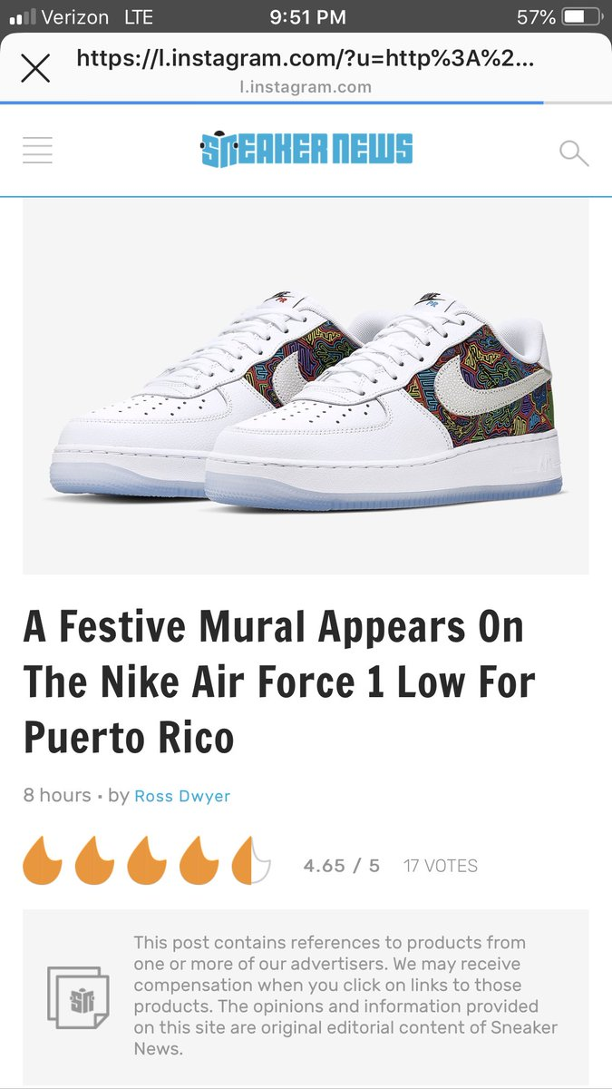 "43f9d28d5bb28a Is this not Mola Artwork on this ""Puerto Rican Festive Mural"" inspired  shoe   Nike I need answers  Nikepic.twitter.com yYnj4wFBOn"
