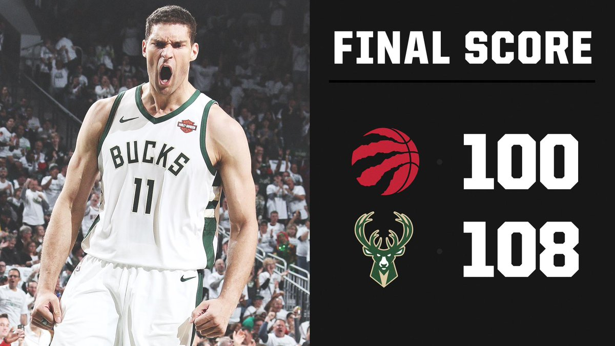 Game 1 of the Eastern Conference finals goes to the Bucks 🦌 https://t.co/08ejvcMo5D