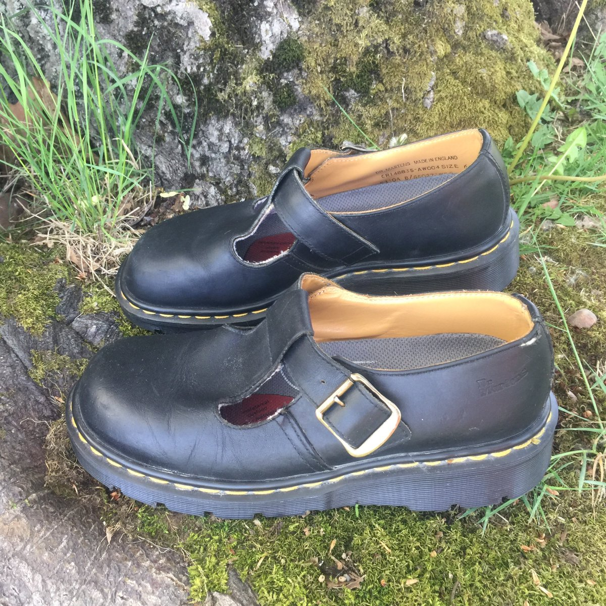 Excited to share the latest addition to my #etsy shop: Doc Martens Chunky Shoes  #clothing #shoes #women #black #drmartens #size8us #size6uk #buckle #yellowstitching My shop -