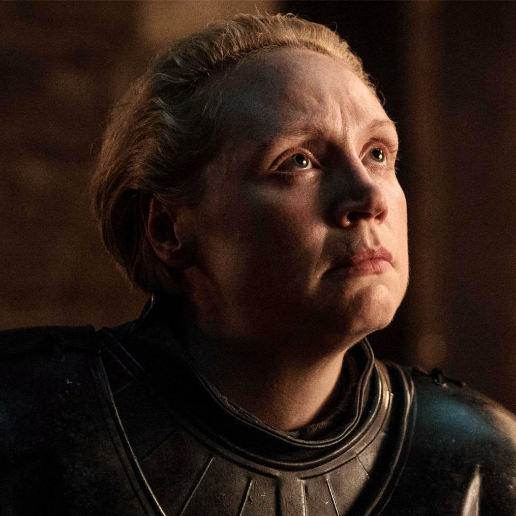 """Gwen on Brienne:  """"This character has been very impactful in my life and in the way I think about women and in the way they're portrayed in the media and the way they're treated in society""""  #GameOfThrones"""